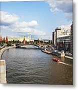 On Moscow River - Russia Metal Print