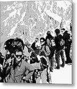 On Mount Blanc Metal Print