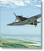 Spitfire On Patrol Metal Print