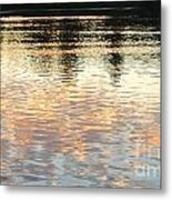 On Shimmering Pond Metal Print