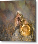 On Stage The Trumpeter Metal Print
