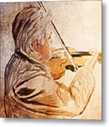 On Stage The Violinist Metal Print