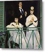 On The Balcony Metal Print