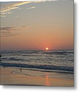 On The Beach At Sunrise - Wildwood New Jersey Metal Print
