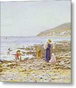 On The Beach Metal Print by Helen Allingham