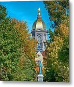 On The Campus Of The University Of Notre Dame Metal Print