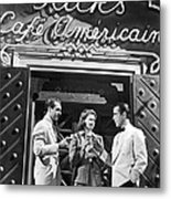 On The Casablanca Set Metal Print