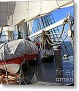 On The Deck Of A Sailing Ship Metal Print