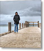 On The Dock Metal Print