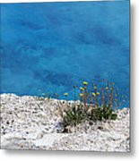 On The Edge Of Blue Metal Print