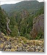 On The Edge Of The Cheakamus River Gorge Metal Print