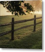 On The Fence Metal Print by Bill Wakeley