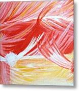 On The Flaming Wings Of Angels Metal Print