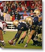 On The Goal Line - Notre Dame Vs Utah Metal Print