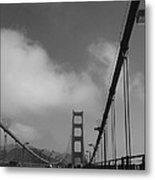 On The Golden Gate Bridge  Metal Print