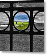 On The Green Metal Print