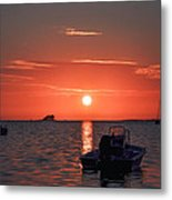 On The Gulf At Sunset Metal Print