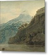 On The Gulf Of Salerno Near Vietri Metal Print
