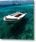 On The Peaceful Waters. Maldives Metal Print