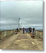 On The Pier At Pacifica Metal Print
