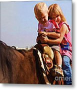 On The Ranch Metal Print