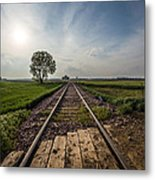 On The Right Track Metal Print