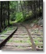 Victorian Locomotive Tracks Metal Print