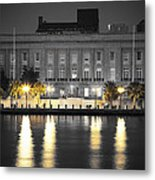 On The River At The Courthouse Metal Print