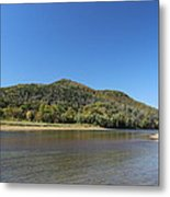 On The River Bank. Metal Print
