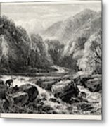 On The River, Lledr, Wales, Uk, Great Britain Metal Print