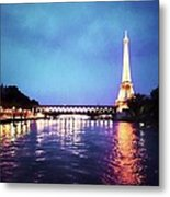 On The River Seine Metal Print