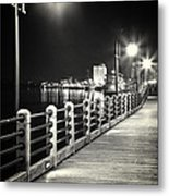 On The River Walk Metal Print