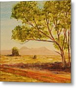 On The Road To Broken Hill Nsw Australia Metal Print