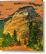On The Road To Zion Metal Print