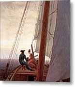 On The Sailing Boat Metal Print
