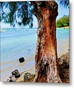 On The Shore 1. Mauritius Metal Print
