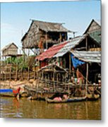 On The Shores Of Tonle Sap Metal Print