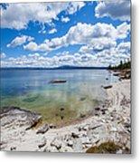 On The Shores Of Yellowstone Lake Metal Print