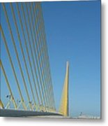 On The Sky Way Brigde  Metal Print