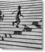 On The Stairs . Metal Print