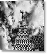 On The Riviera Stairway To Heaven Bw Palm Springs Metal Print