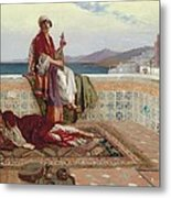 On The Terrace Tangiers Metal Print by Rudolphe Ernst