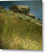On The Top Of Grassy Hill Metal Print