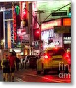 On The Town - Times Square Metal Print