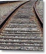 On The Tracks Metal Print