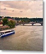 On The Vltava River - Prague Metal Print