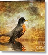 On The Watch For Worms Metal Print