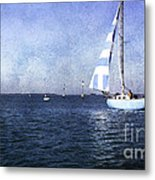 On The Water 3 - Venice Metal Print