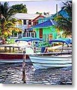 On The Waterfront Caye Caulker Belize Metal Print