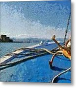 On The Way To Bourtzi Fortress Metal Print